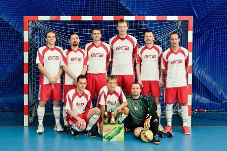ERA Pardubice futsal team – winning silver medal in company jerseys