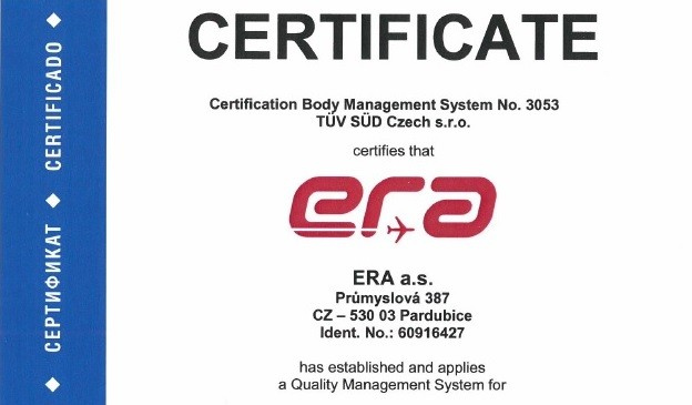 ERA renewed its TÜV SÜD certificate for another three years