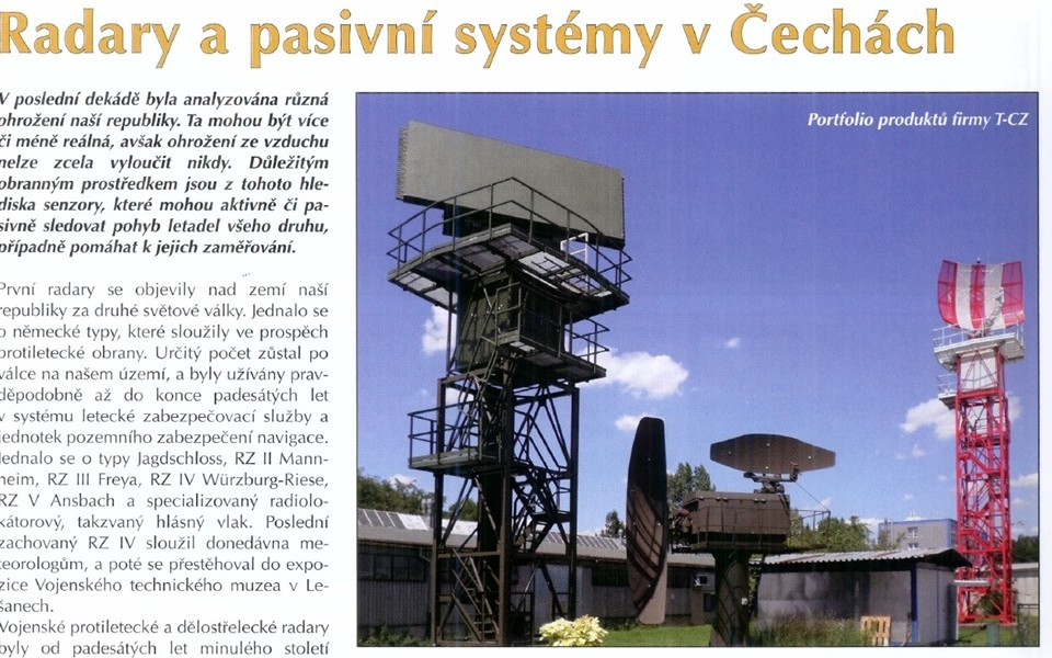 CDIS Review on the passive radiolocation in Czech lands