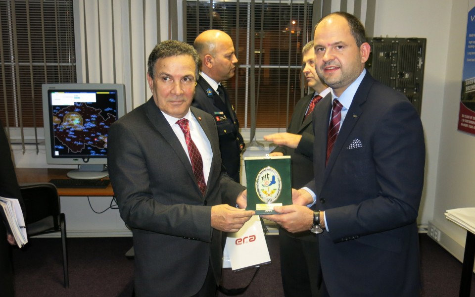 Mr Farhat Horchani, the Minister of Defence of Tunisia, visited the ERA headquarters in Pardubice