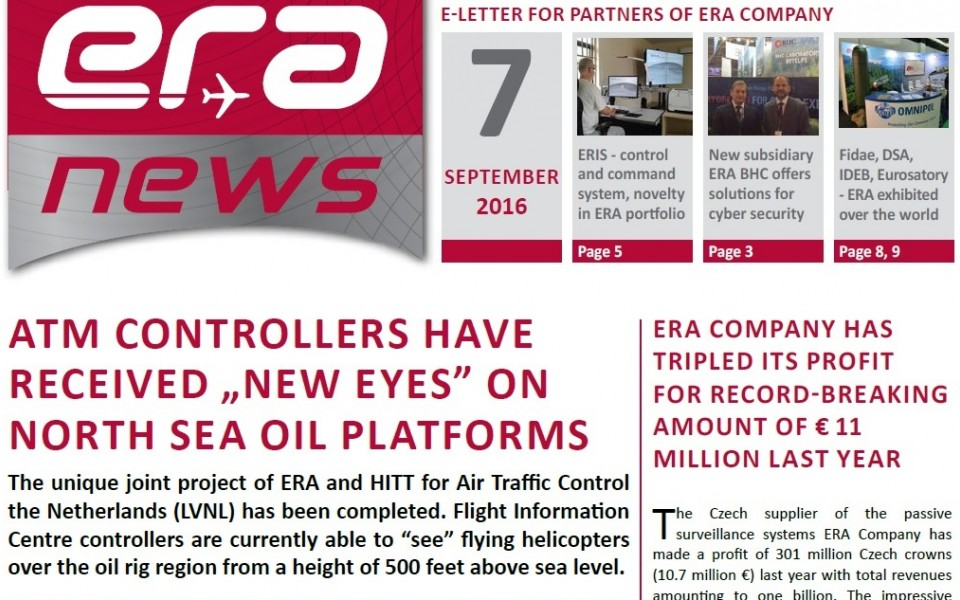 ERA NEWS, 7th issue, September 2016