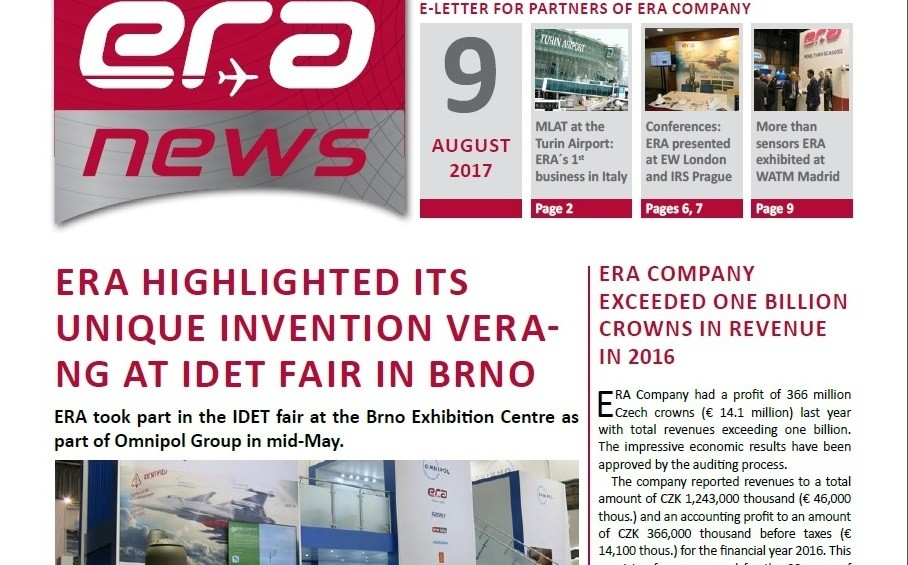 ERA NEWS, 9th issue, August 2017