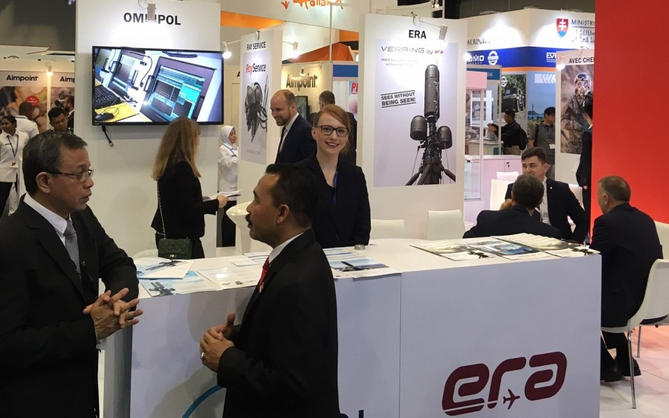 ERA has exhibited at Malaysia's defence exhibition DSA 2018
