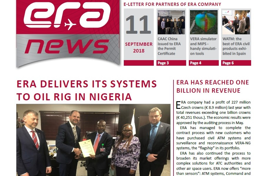 ERA NEWS newsletter, 11th issue, September 2018